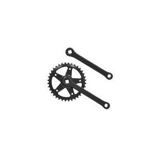 リンエイ(株) 【Crank36_170B】コッタレスギヤクランクセット 36T ブラック 170mm [199-20102]|chari-o