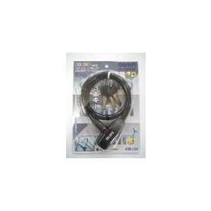 GORIN 【G-220W/b】G-220W カラーズワイヤーロック ディンプルキィー ブラック [235090001]|chari-o