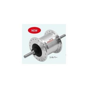 シマノ ADHC2100NCFS DH-C2100 ハブ ダイナモ J2-A 6V-0.9W C(20-24インチ対応 ) ナットタイプ シルバー 28H OLD93mm [ADHC2100NCFS]|chari-o