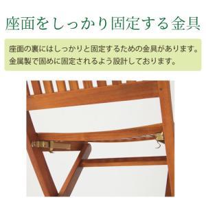 折りたたみチェアー ガーデンチェアー 折り畳み 木製 椅子 イス 屋外 ベランダ バルコニー 庭 アウトドア テラス 天然木 ウッド 2脚セット charisma-bon 05