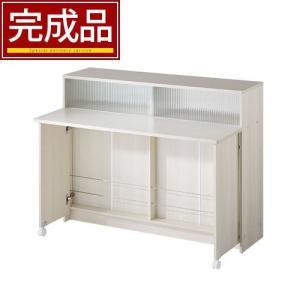 【完成品】間仕切り カウンター キッチンカウンター テーブル バタフライ 対面カウンター バタフライテーブルの写真