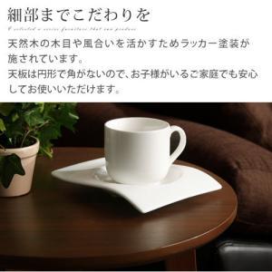 ナイトテーブル ベッドサイドテーブル テーブル ソファ ソファーサイドテーブル 丸形 北欧 おしゃれ 木目 コーヒーテーブル|charisma-bon|07
