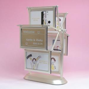ウェルカムボード ミラー 結婚式 デザイン 観覧車(シルバー)|charm