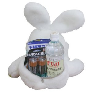 ウエイトドール 体重ドール 防災アニマル(ウサギ) 名入れ刺繍|charm