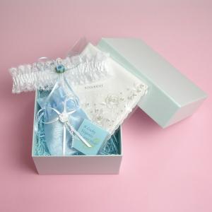 サムシングフォーの3点セット 選べる花嫁ハンカチ charm