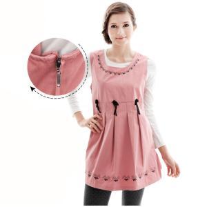 電磁波防止ワンピース ピンク フリーサイズ 前後左右から99.9%カット 大人気 妊婦服|charmbaby