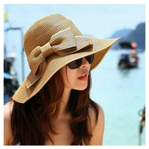 つば広 麦わら帽子 リボン付ストローハット 女優帽|charmying
