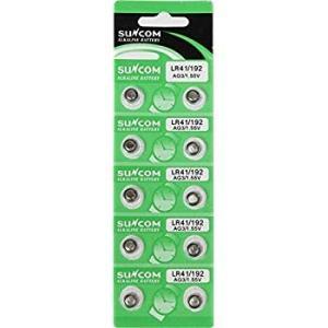 サンコム アルカリボタン電池(LR41)10個セット 電子体温計用電池