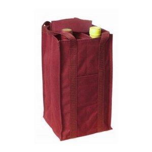 プルテックス ワインバッグ 4本用(ワインレッド)|charpente