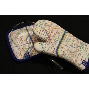 自社輸入 パリ路線図 ミトンと鍋敷き|charpente