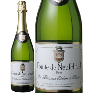 コント・ド・ヌフシャテル 750ml スパークリングワイン6本セット!(グラス2脚付き)|charpente