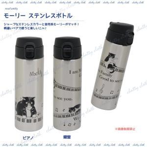 モーリーステンレスボトル (ノアファミリー 猫グッズ ネコ雑貨 水筒 ステンレスボトル ねこ柄) 051-S508|chatty-cloth