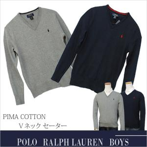 【POLO by Ralph Lauren Boys】 ラルフローレン ボーイズ コットン Vネック...