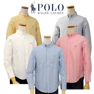 【POLO by Ralph Lauren Boy's】 長袖オックスフォードシャツ   ---素材...