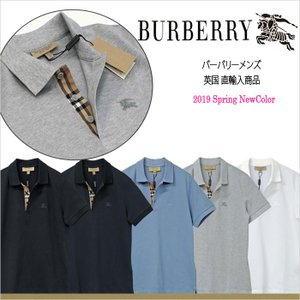 【 BURBERRY Men's】 BURBERRY  (バーバリー) 半袖鹿の子ポロシャツ BUR...