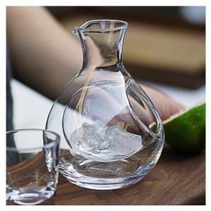ガラス 徳利 冷酒徳利 氷ポケット 200cc 食洗機対応 冷酒カラフェ ポケットカラフェ