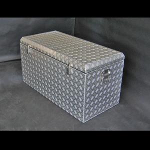 アルミチェッカーボックス 幅833mm【固定用リング+南京錠金具付き】大型アルミ工具箱 ATB-83RK|checkerbox