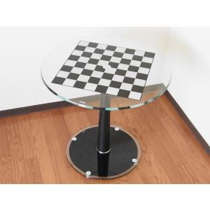【チェステーブル】Luxury Glass Chess Table|checkmate-japan