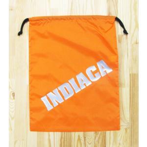 インディアカ INDIACA  シューズナイロンバッグ オレンジ|chedan