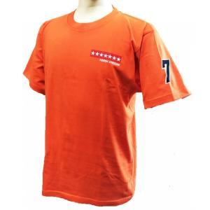 KEIRIN CHEDAN ナンバーウェア 番号 競輪 車番 Tシャツ 7番 オレンジ chedan 02