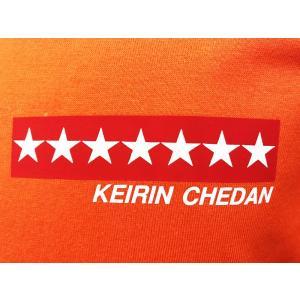 KEIRIN CHEDAN ナンバーウェア 番号 競輪 車番 Tシャツ 7番 オレンジ chedan 04