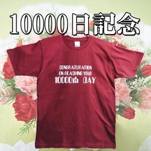10000日記念Tシャツ バーガンディー×ホワイト|chedan