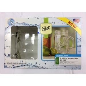 【4個セット】ボールメイソンジャー ドリンクマグ 700ml 透明/保存容器/ドリンク/スムージー/調味料/ジャム/ランチ/インテリア/グラス/ガラス瓶/ギフト|cheers-eshop