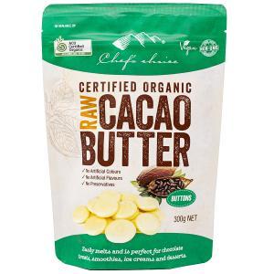 シェフズチョイス オーガニックローカカオバター300g Organic Raw Cacao Butt...