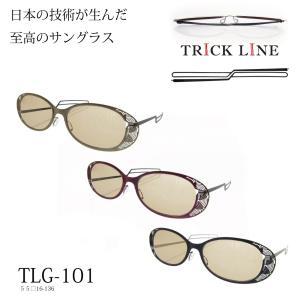 オシャレなサングラス 紫外線UV420カット薄型携帯用メガネトリックライン TLG101|chemistrie