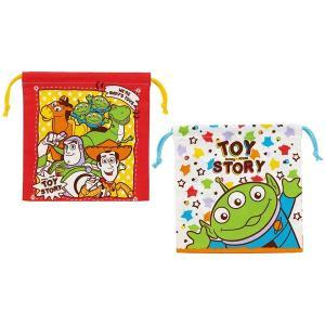 商品説明 絵柄が違う巾着袋の2枚セット 左右にヒモを引くだけでサッと閉じることができる バッグやポー...