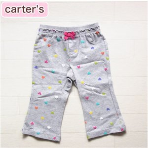 カーターズ 正規品 Careter's グレーのかわいいハート柄ストレッチパンツ(12M 18M 12ヶ月 1歳 1才 2歳 2才 24M 2T 3歳 3才 3T 4歳 4才 4T 5歳 5才 5T 女の|cherie-box