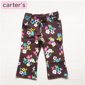 12m  カーターズ 正規品 Carter's -7)ブラウンのかわいい花柄ストレッチパンツ(12M 18M 12ヶ月 1歳 1才 2歳 2才 24M 2T 3歳 3才 3T 4歳 4才 4T 5歳 5才 5T|cherie-box