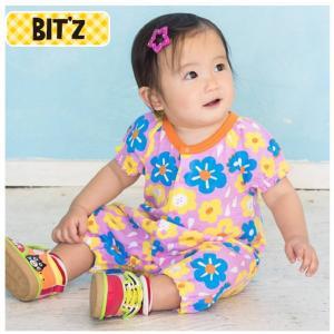 Bit'z(ビッツ)の半袖カバーオール ロンパース「2柄お花ロンパス」出産祝いにもおすすめ (6M 9M 12M 18M 6ヶ月 9ヶ月 12ヶ月 18ヶ月 1歳 1才 2歳 2才 2T 24M|cherie-box
