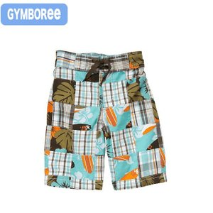 ジンボリー 正規品 Gymboree -5)マドラスチェックの男の子用ショートパンツ。夏素材でサラサ...