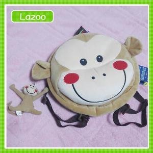 ラズー(Lazoo)のおサルくん子供用ベビーリュック おサルくんの顔がとってもかわいいリュックだけどふわふわクッションにもなっちゃうかも|cherie-box