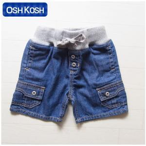 オシュコシュ正規品(OshKosh)ポケットがかっこいいデニムのハーフパンツ (1歳 1才 18M 2歳 2才 24M 2T 3歳 3才 3T 4歳 4才 4T 男の子用 子供)(80cm 90cm 95cm 10|cherie-box