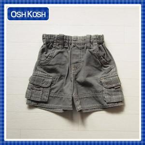 オシュコシュ正規品(OshKosh)グレーのしっかりめのコットン素材のハーフパンツ (1歳 1才 18M 2歳 2才 24M 2T 3歳 3才 3T 4歳 4才 4T 男の子用 子供)(80cm 90cm 9 cherie-box