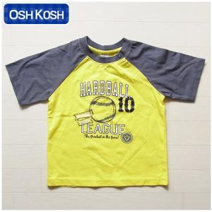 オシュコシュ正規品(OshKosh)かっこいい蛍光イエロー×グレー 半袖 Tシャツ(1歳 1才 18M 2歳 2才 24M 2T 3歳 3才 3T 4歳 4才 4T 5歳 5才 5T 6歳 6才 6T 男の子|cherie-box