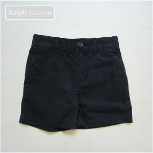 ラルフローレン(Ralph Lauren-2)正規品かっこいいネイビー(紺)のショートパンツ。フォー...