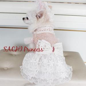 オーダーメイド犬服のドレス-プリンセスの髪