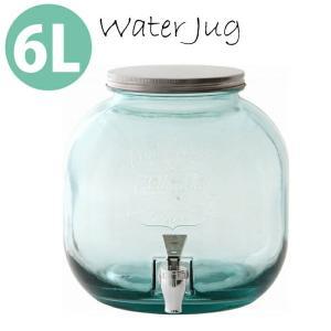 ウォータージャグ ウォーターサーバー 6L 大容量 カフェ インテリア おしゃれ に演出 5リットル  以上 ドリンクサーバー ガラス ドリンク ディスペンサー|cherrybell