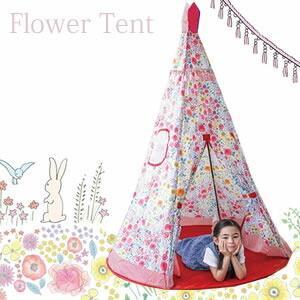 プレイオン フローラルテント フラワーテント TEEPEE TENT ティーピーハウステント おままごと キッズテント 子供用テント プレイハウス|cherrybell