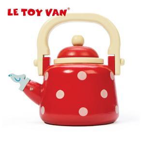 木製 やかん ドット ケトル 赤 レッド おままごと お店屋さん お店屋さんごっこ おもちゃ 木のおもちゃ ごっこ遊び 知育玩具 プレゼント レトイバン