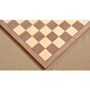 チェス盤 スタンダード 45cm 50mm 折りたたみ クルミ インド直送|chessjapan