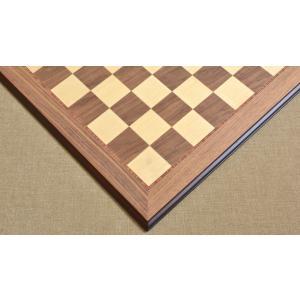 チェス盤 デラックス 55cm 55mm クルミ インド直送|chessjapan