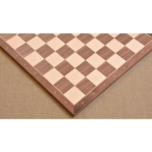 チェス盤 スタンダード 45cm 50mm クルミ インド直送 chessjapan