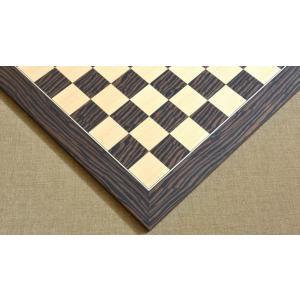チェス盤 デラックス 50cm 50mm 黒檀 海外直送 chessjapan
