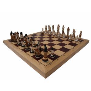 チェスセット 木製 エジプト 65cm ポーランド直送|chessjapan
