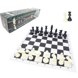 スタンダードチェスセット ナショナル 43cm ブラック ライト