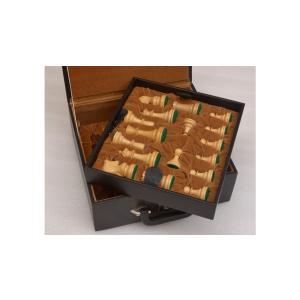チェスボックス チェス駒用収納箱 95〜101mm インド直送 chessjapan